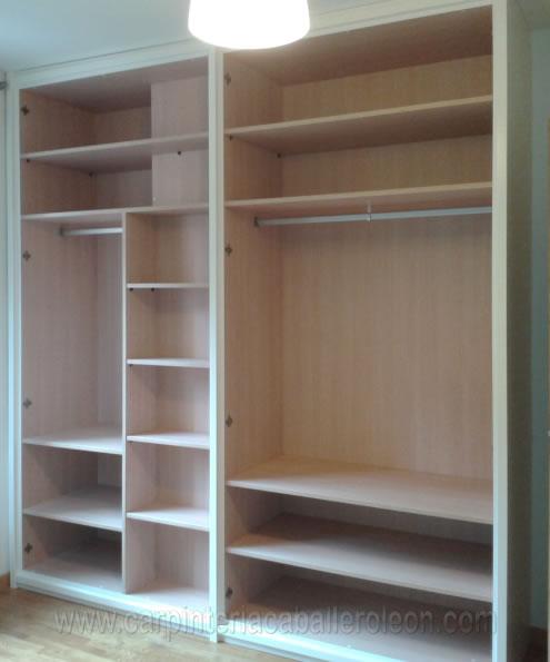 Mueble blanco de habitaci n carpinter a caballero le n for Roperos de melamina para dormitorios