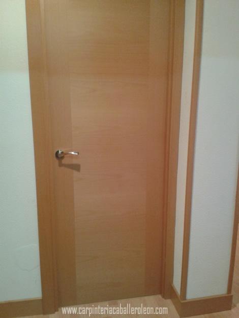 Puertas de madera de haya carpinter a caballero le n - Puertas de haya vaporizada ...