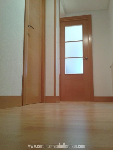 Puertas de madera de haya carpinter a caballero le n - Puertas haya vaporizada ...