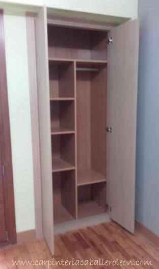 Interior de armario a medida caballero le n - Mucho mueble leon ...