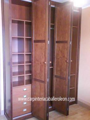 Armario de puertas plegables caballero le n - Puertas plegables para armarios ...