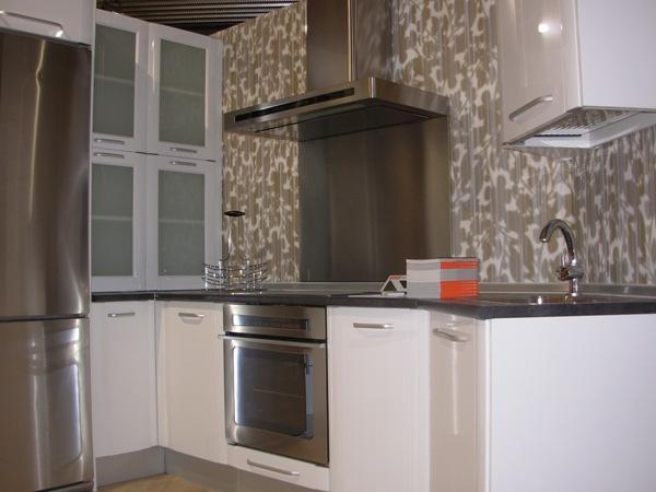 Casas cocinas mueble cocinas en color blanco for Modelos de cocinas blancas