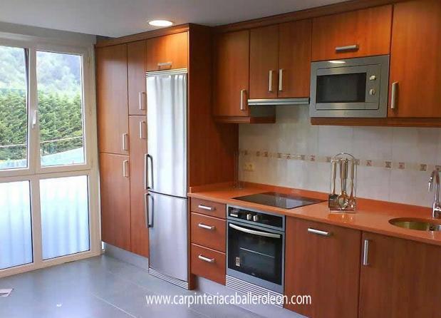 renovar muebles caoba cocina modelo velate cerezo en serie