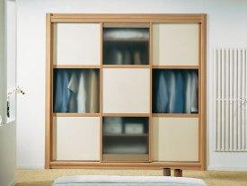 Mueble tipo dados en Crema y Haya