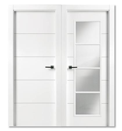 Instalamos puertas plegables carpinter a caballero le n for Puertas blancas con vidrio